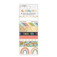 Jen Hadfield - Reaching Out Collection - Washi Tape - Patterned - Gold Foil Accents