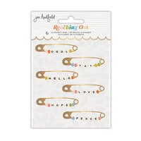 Jen Hadfield - Reaching Out Collection - Alphabet Phrase Pins