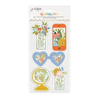 Jen Hadfield - Reaching Out Collection - Layered Shaker Sticker - Gold Foil Accents