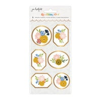 Jen Hadfield - Reaching Out Collection - Stickers - Pressed Flowers - Gold Foil Accents