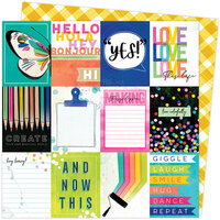 American Crafts - Color Study Collection - 12 x 12 Double Sided Paper - Collection