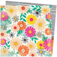 American Crafts - Color Study Collection - 12 x 12 Double Sided Paper - Floral Study