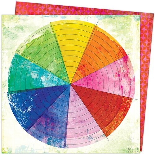 Vicki Boutin - Color Study Collection - 12 x 12 Double Sided Paper - Color Wheel