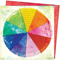 American Crafts - Color Study Collection - 12 x 12 Double Sided Paper - Color Wheel