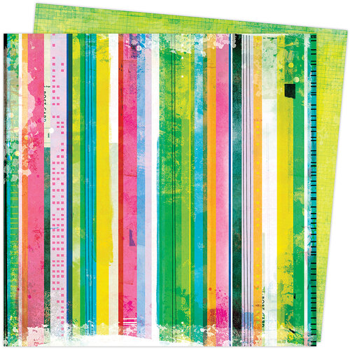 Vicki Boutin - Color Study Collection - 12 x 12 Double Sided Paper - Linear