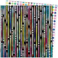 American Crafts - Color Study Collection - 12 x 12 Double Sided Paper - Doodles
