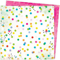 American Crafts - Color Study Collection - 12 x 12 Double Sided Paper - Dots and Marks