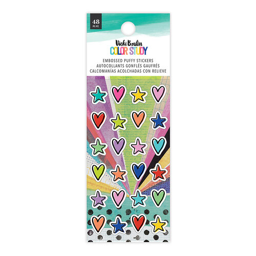 Vicki Boutin - Color Study Collection - Embossed Puffy Stickers