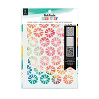 American Crafts - Color Study Collection - Stencils - Bubbles