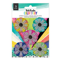 American Crafts - Color Study Collection - Layered Flowers
