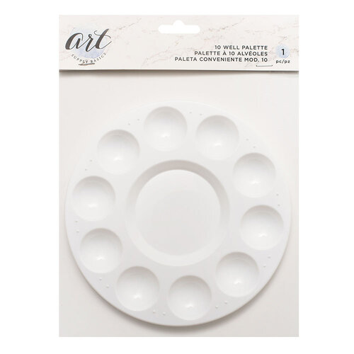 American Crafts - Art Supply Basics Collection - Plastic Palette - 10 Wells