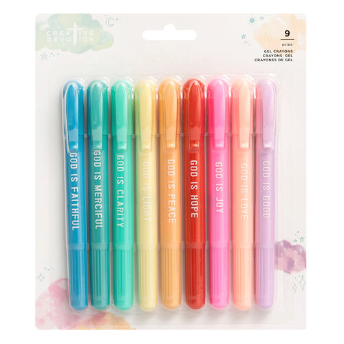 American Crafts - Creative Devotion Draw Near Collection - Gel Crayons