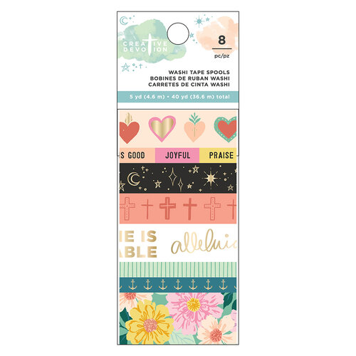 American Crafts - Creative Devotion Draw Near Collection - Washi Tape - Matte Gold Foil Accents