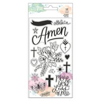 American Crafts - Creative Devotion Draw Near Collection - Clear Photopolymer Stamps