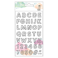 American Crafts - Creative Devotion Draw Near Collection - Clear Photopolymer Stamps - Alphabet