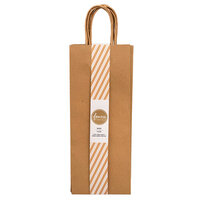 American Crafts - Fancy That Collection - Wine Gift Bags - Kraft - 6 Pack