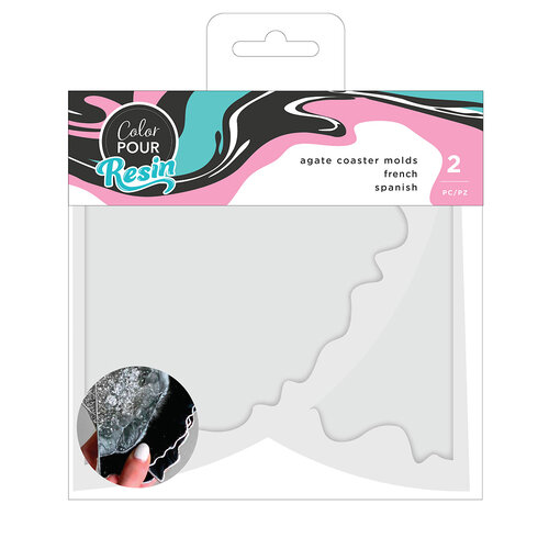 American Crafts - Color Pour Resin Collection - Mold - Agate Coaster