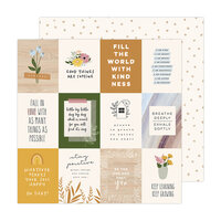 Jen Hadfield - Peaceful Heart Collection - 12 x 12 Double Sided Paper - Peaceful Heart