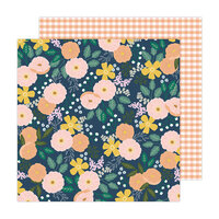 Jen Hadfield - Peaceful Heart Collection - 12 x 12 Double Sided Paper - Bloom and Grow