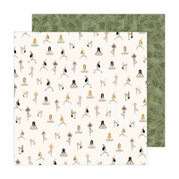 Jen Hadfield - Peaceful Heart Collection - 12 x 12 Double Sided Paper - Inhale Exhale