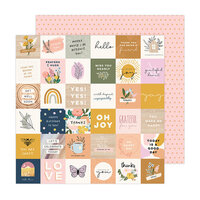 Jen Hadfield - Peaceful Heart Collection - 12 x 12 Double Sided Paper - Day By Day