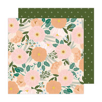 Jen Hadfield - Peaceful Heart Collection - 12 x 12 Double Sided Paper - Breathe Deeply