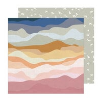 Jen Hadfield - Peaceful Heart Collection - 12 x 12 Double Sided Paper - Vistas