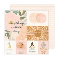 Jen Hadfield - Peaceful Heart Collection - 12 x 12 Double Sided Paper - Good Things