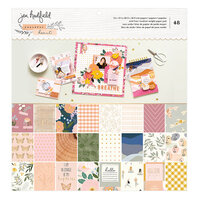 Jen Hadfield - Peaceful Heart Collection - 12 x 12 Paper Pad with Gold Foil Accents