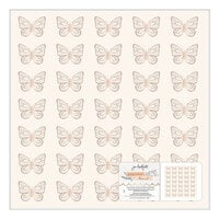 Jen Hadfield - Peaceful Heart Collection - 12 x 12 Specialty Paper with Gold Foil Accents