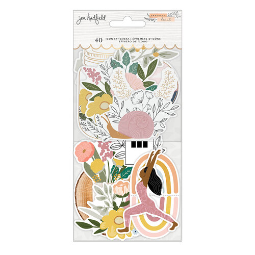 Jen Hadfield - Peaceful Heart Collection - Ephemera - Icons with Gold Foil
