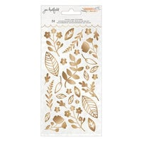 Jen Hadfield - Peaceful Heart Collection - Puffy Leaf Stickers with Gold Foil Accents