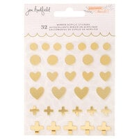Jen Hadfield - Peaceful Heart Collection - Mirrored Acrylic Stickers - Gold Foil