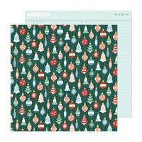 Crate Paper - Busy Sidewalks Collection - Christmas - 12 x 12 Double Sided Paper - Deck the Halls