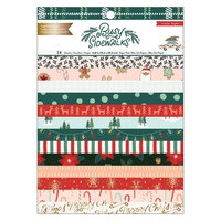 Crate Paper - Busy Sidewalks Collection - Christmas - 6 x 8 Paper Pad with Gold Foil Accents