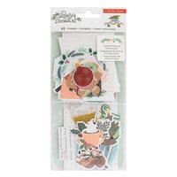 Crate Paper - Busy Sidewalks Collection - Christmas - Ephemera with Vellum Accents