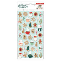 Crate Paper - Busy Sidewalks Collection - Christmas - Puffy Stickers