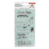 Crate Paper - Busy Sidewalks Collection - Christmas - Clear Acrylic Stamps