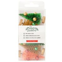 Crate Paper - Busy Sidewalks Collection - Christmas - Bottle Brush Trees