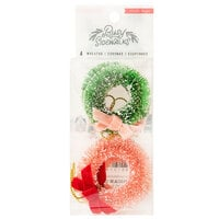 Crate Paper - Busy Sidewalks Collection - Christmas - Bottle Brush Wreaths
