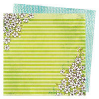 Vicki Boutin - Fernwood Collection - 12 x 12 Double Sided Paper - Happiness Blooms