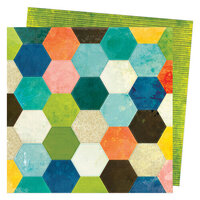 Vicki Boutin - Fernwood Collection - 12 x 12 Double Sided Paper - Patchwork