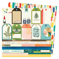 Vicki Boutin - Fernwood Collection - 12 x 12 Double Sided Paper - Fernwood Tags