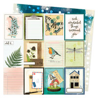 Vicki Boutin - Fernwood Collection - 12 x 12 Double Sided Paper - 3 x 4 Journaling Cards