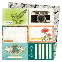 Vicki Boutin - Fernwood Collection - 12 x 12 Double Sided Paper - 4 x 6 Journaling Cards