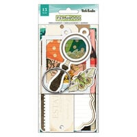Vicki Boutin - Fernwood Collection - Tag Book Kit - Gold Foil Accents