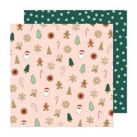 Crate Paper - Busy Sidewalks Collection - 12 x 12 Double Sided Paper - Christmas Cookies