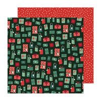 Crate Paper - Busy Sidewalks Collection - Christmas - 12 x 12 Double Sided Paper - Holiday Style