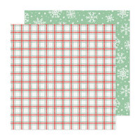 Crate Paper - Busy Sidewalks Collection - Christmas - 12 x 12 Double Sided Paper - Snow Day