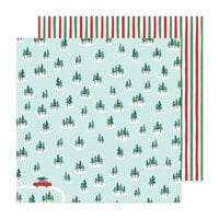 Crate Paper - Busy Sidewalks Collection - 12 x 12 Double Sided Paper - Christmas Tree Farm